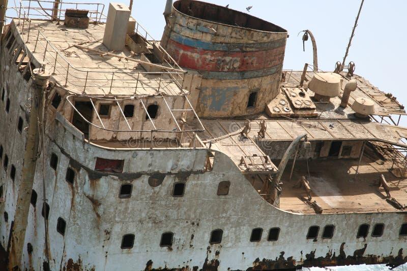Destruição do navio no Mar Vermelho imagem de stock royalty free