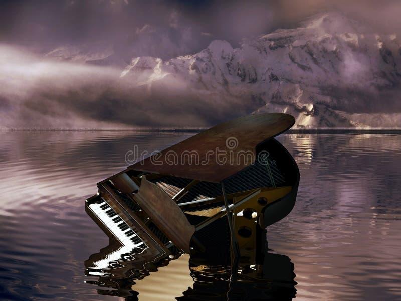 Destruição do piano ilustração royalty free