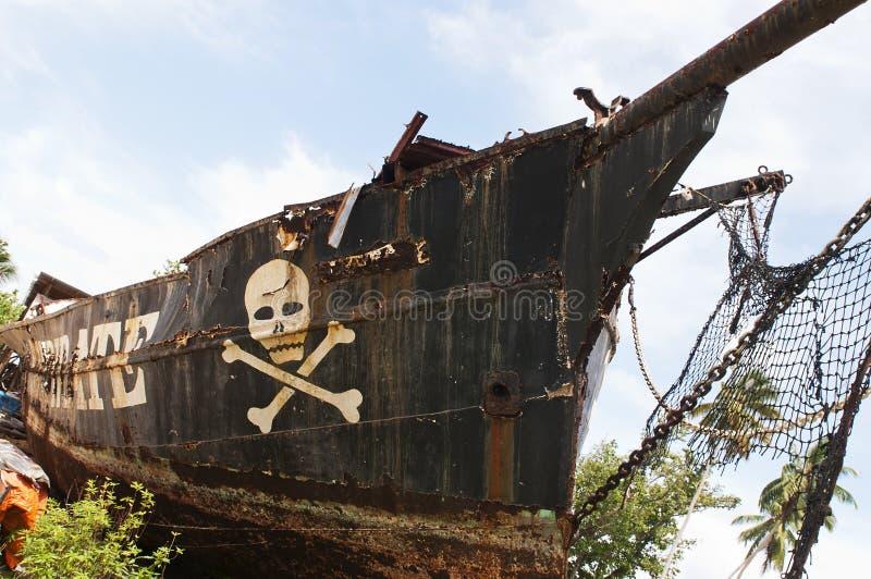 Destruição do pirata imagem de stock