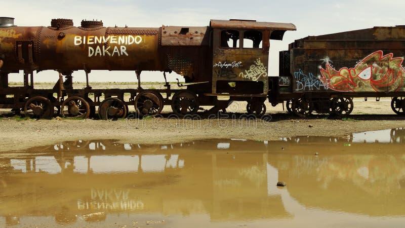Destruição do trem fotografia de stock