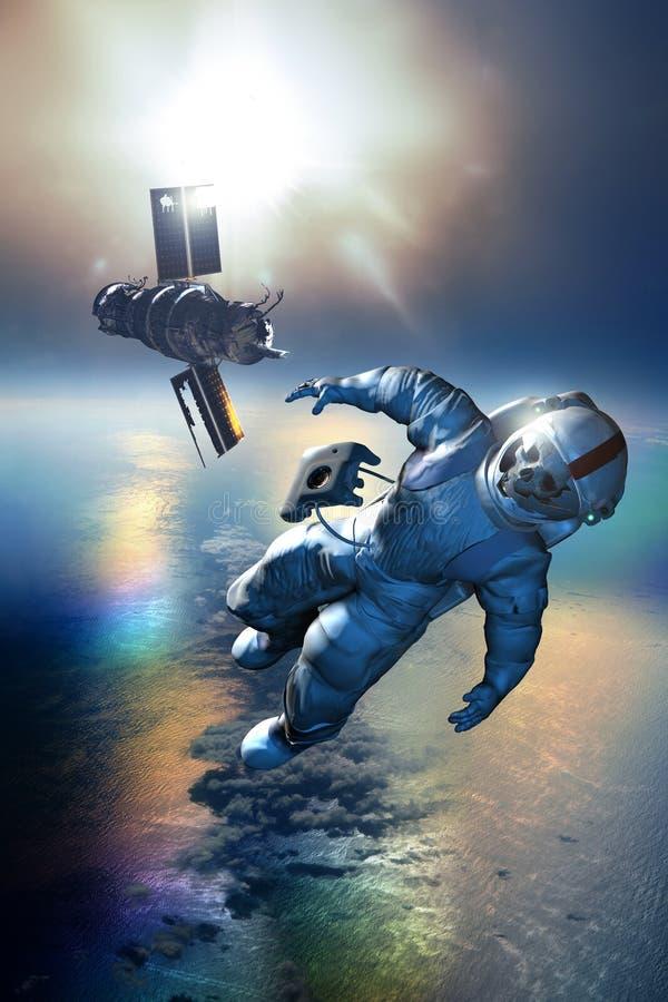 Destruição espacial ilustração stock