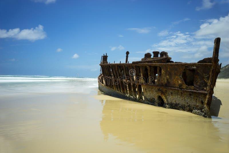 Destruição Fraser Island Australia dos SS Maheno fotos de stock royalty free