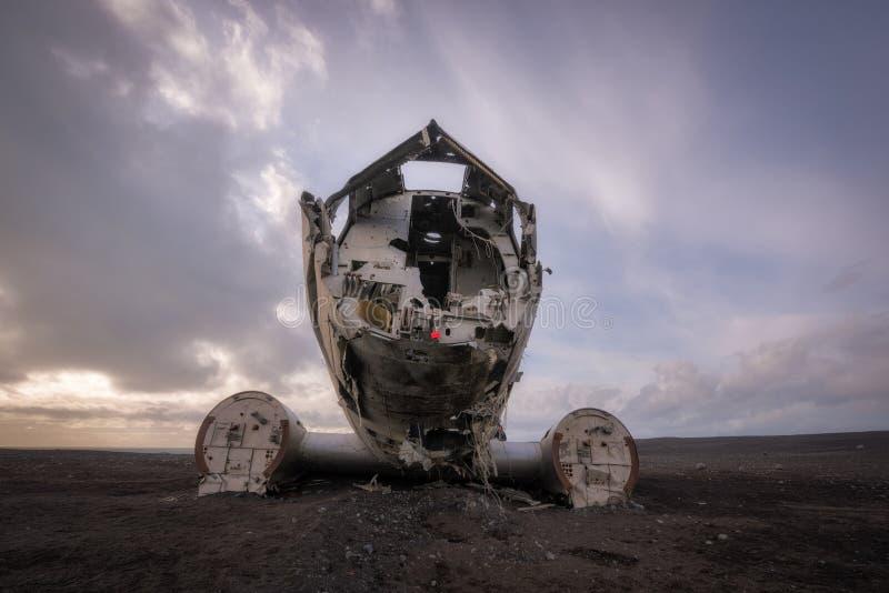 Destruição plana da C.C. 3 em Islândia imagem de stock