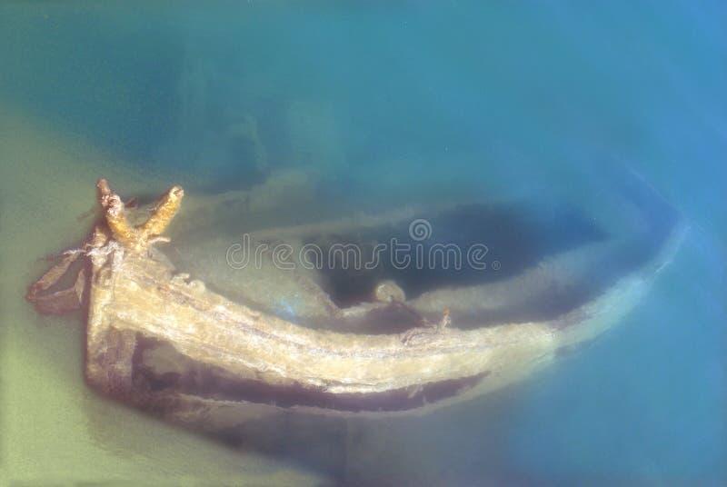 Destruição sob a água fotos de stock