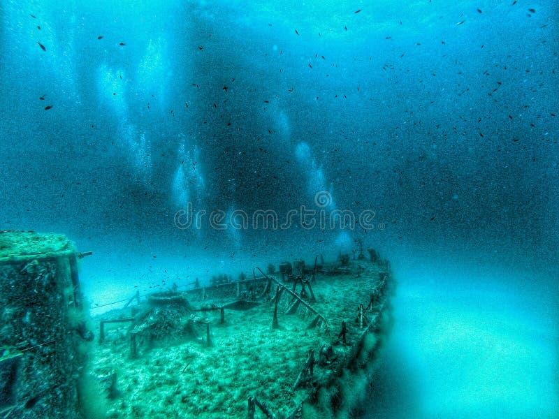 Destruição subaquática em Malta fotos de stock royalty free