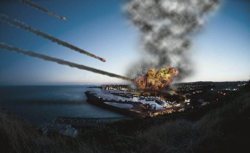 Destruindo a cidade ilustração do vetor