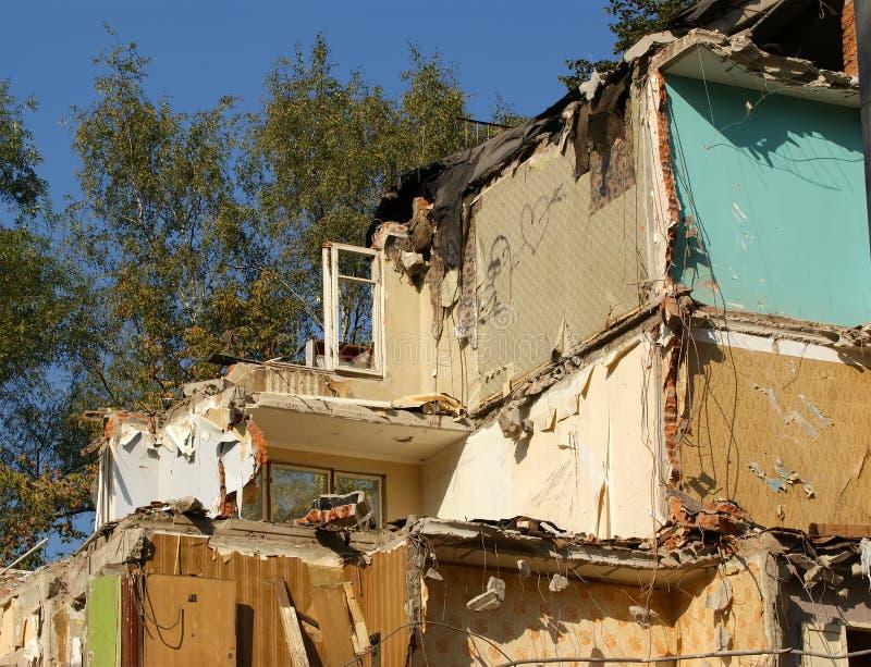 Destruiu a casa velha fotografia de stock royalty free