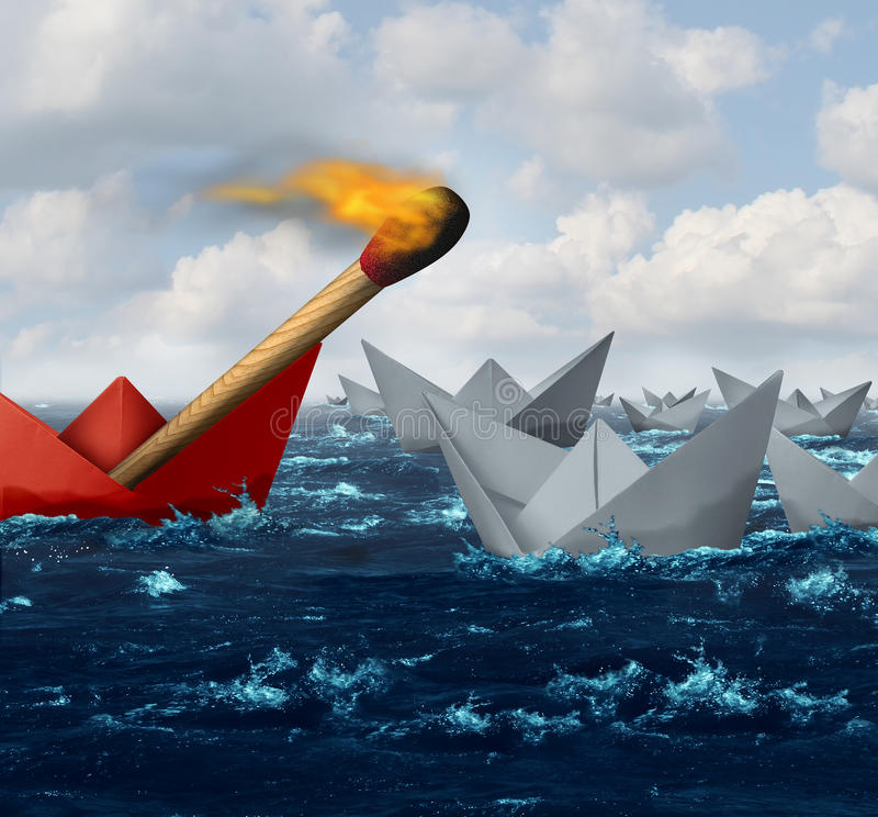 Destruktiv affär vektor illustrationer