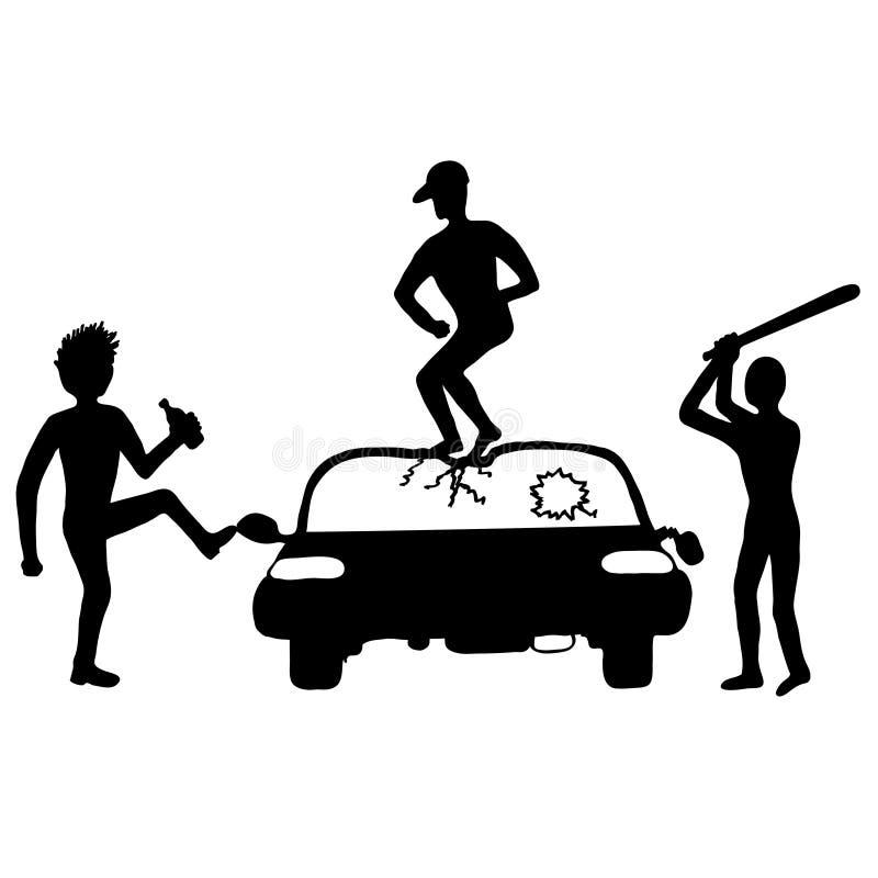 Destruya del coche stock de ilustración