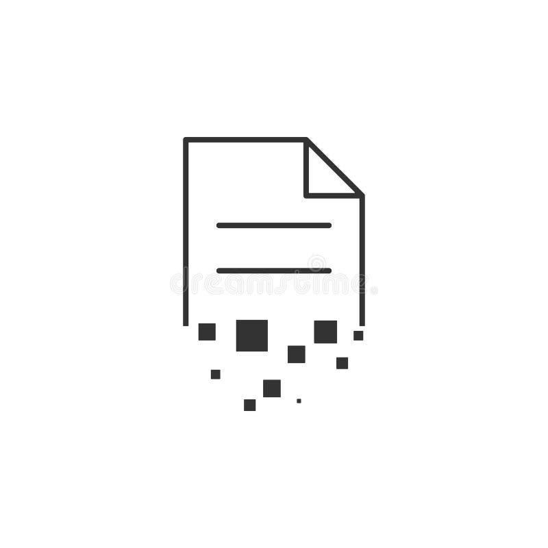 Destruya, documente la línea icono Ejemplo plano simple, moderno del vector para el app móvil, sitio web o mesa app ilustración del vector