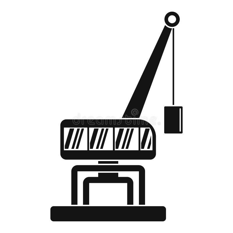 Destruya el icono de la grúa, estilo simple ilustración del vector