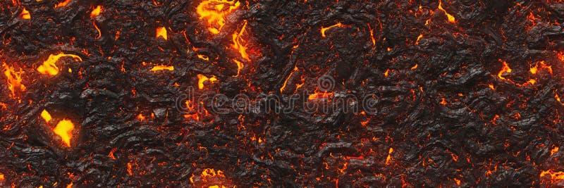 Destruya el modelo fundido de la naturaleza Lava abstracta texturizada stock de ilustración