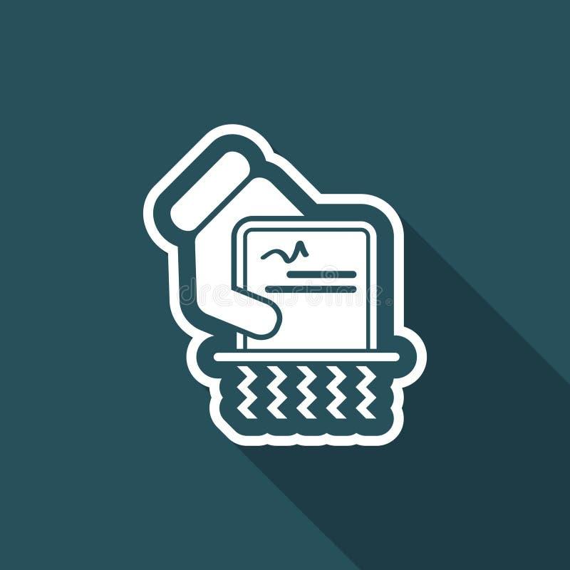 Destruya los documentos oficiales ilustración del vector