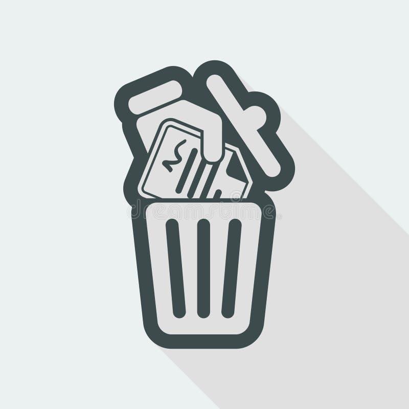 Destruya los documentos oficiales - icono del vector stock de ilustración