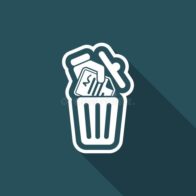 Destruya los documentos oficiales - icono del vector libre illustration