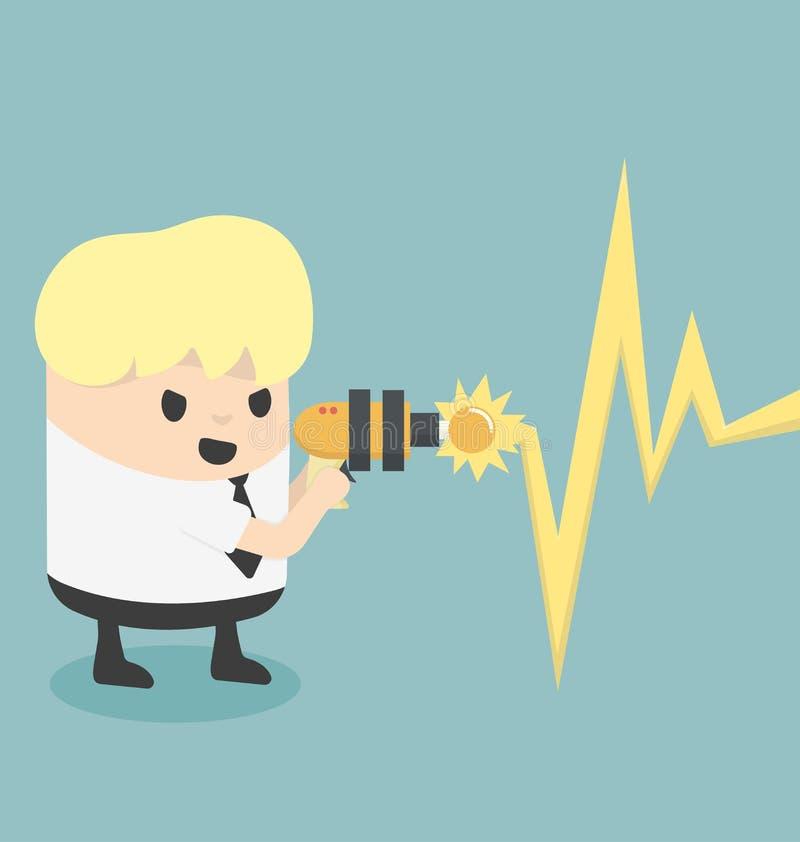Destruya otros idea stock de ilustración
