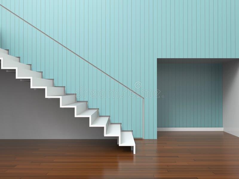 Desván simple de la sala de estar moderna de Ministerio del Interior y de la composición mínima de la decoración stock de ilustración