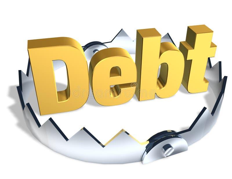 Desvío de la deuda ilustración del vector