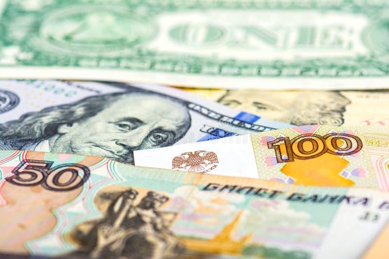 Desvalorização de moeda nacional do russo imagens de stock royalty free