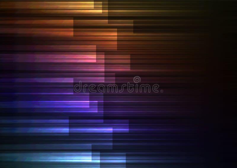 Desvanece-se a sobreposição da barra da velocidade no fundo escuro foto de stock royalty free