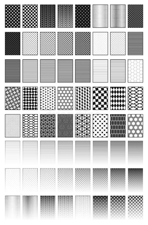 Desvanecem-se, os testes padrões, texturas ilustração royalty free