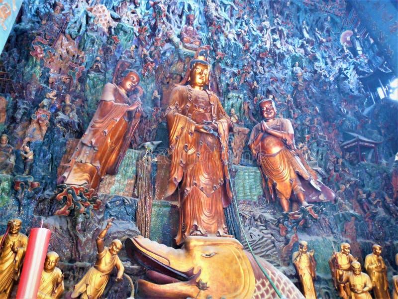 Desvanecimiento, luminiscencia, budismo y fascinación en China imágenes de archivo libres de regalías
