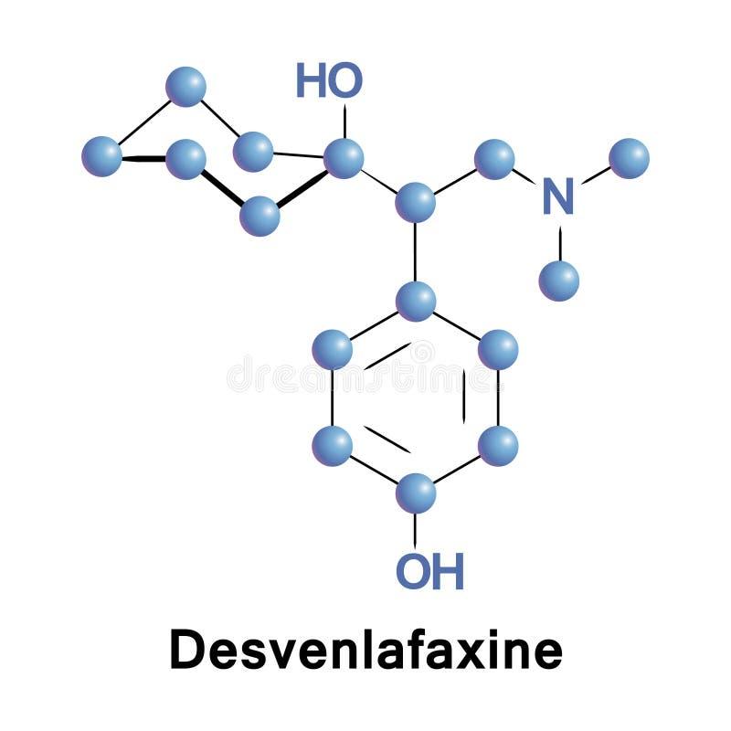 Desvenlafaxine O desmethylvenlafaxine SNRI ilustracji
