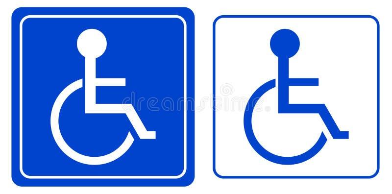 Desventaja o símbolo de la persona del sillón de ruedas stock de ilustración