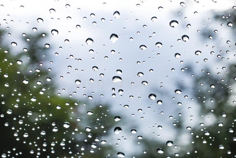 Deszczówka przed samochodowym lustrem zdjęcia stock