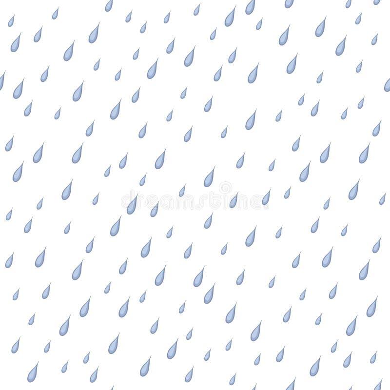 Deszcz, bezszwowy tło ilustracji