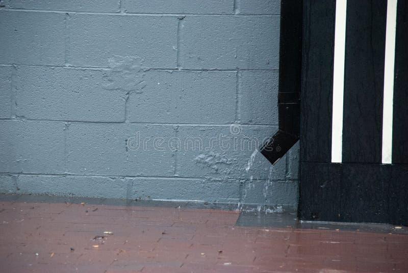 Deszcz: downspout San Francisco zatoki teren fotografia royalty free