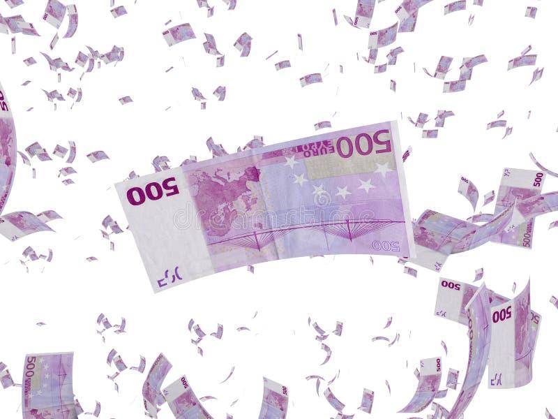 deszcz euro ilustracja wektor