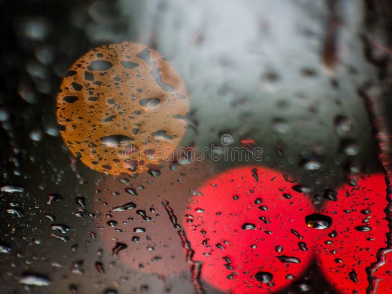 Deszcz i światła zdjęcie royalty free
