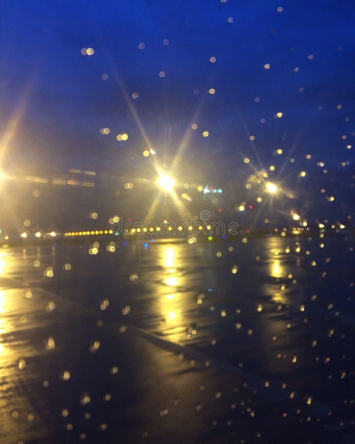 deszcz i samoloty fotografia stock