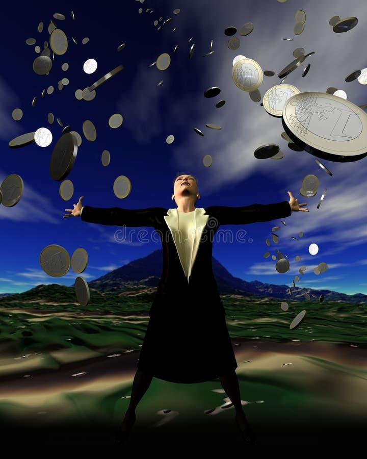 deszcz jest pieniądze royalty ilustracja