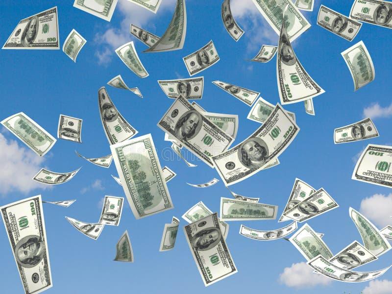 deszcz pieniędzy royalty ilustracja