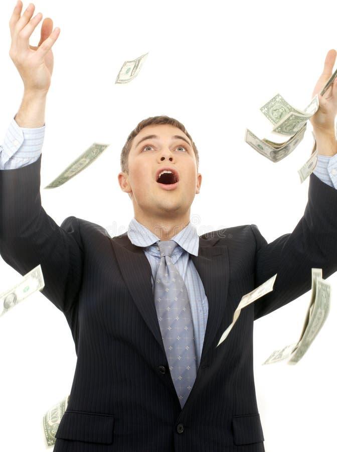 deszcz pieniędzy obraz stock