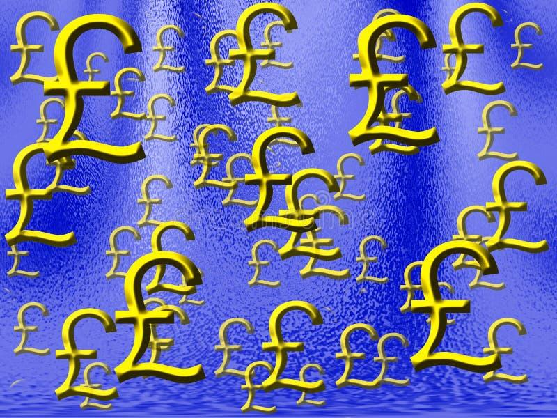 deszcz pieniędzy wielkiej brytanii ilustracja wektor