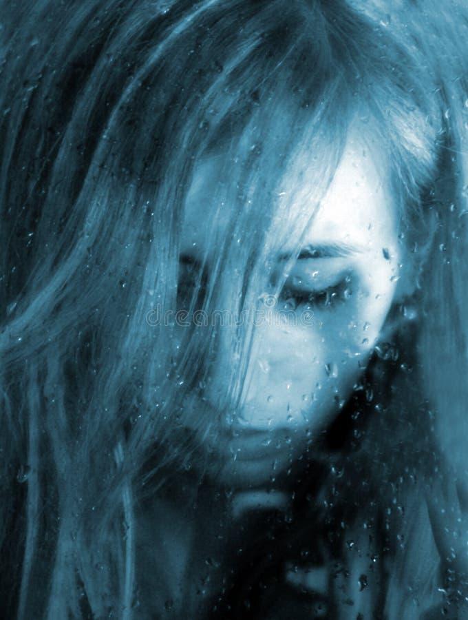 deszcz smutek. zdjęcie stock
