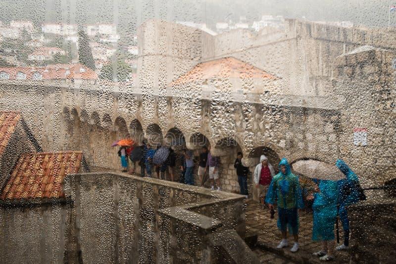 Deszcz w Dubrovnik obrazy royalty free
