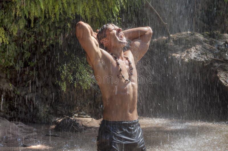 Deszcz w raju obraz stock