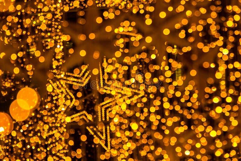 Deszcz złoto wśród gwiazd royalty ilustracja