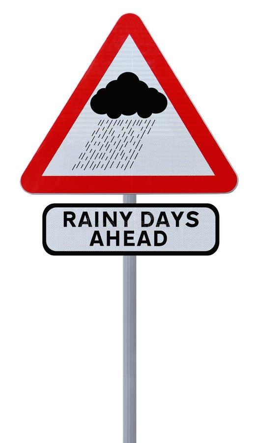 Deszczowi Dni Naprzód zdjęcia stock