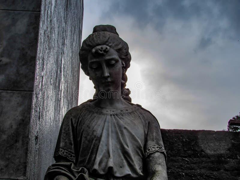 Deszczowy dzień przy Recoleta cmentarzem w Buenos Aires, Argentyna obraz royalty free