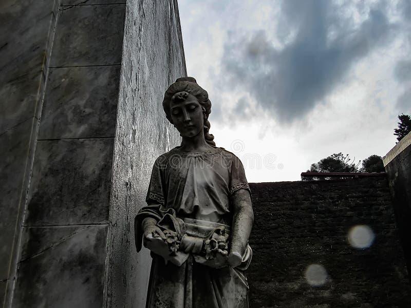 Deszczowy dzień przy Recoleta cmentarzem w Buenos Aires, Argentyna obrazy royalty free