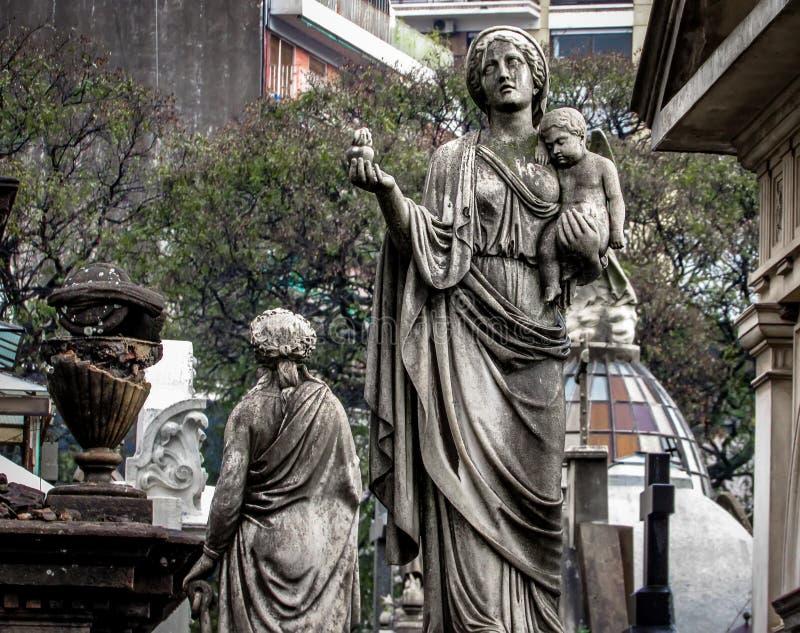 Deszczowy dzień przy Recoleta cmentarzem w Buenos Aires, Argentyna zdjęcia royalty free