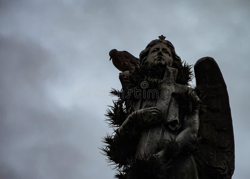 Deszczowy dzień przy Recoleta cmentarzem w Buenos Aires, Argentyna obraz stock