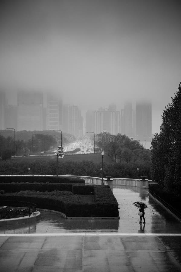 Deszczowy dzień w Chicago zdjęcie royalty free