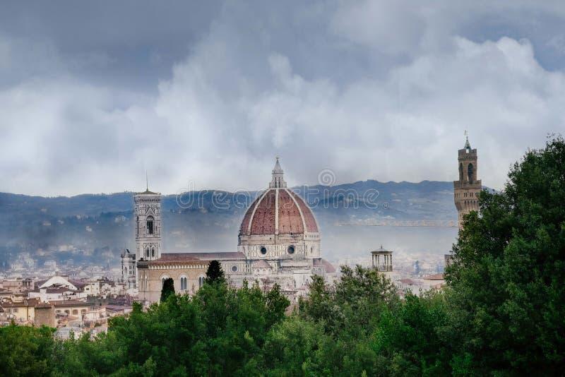 Deszczowy dzień w Florencja Tuscany, Włochy,/ obrazy royalty free