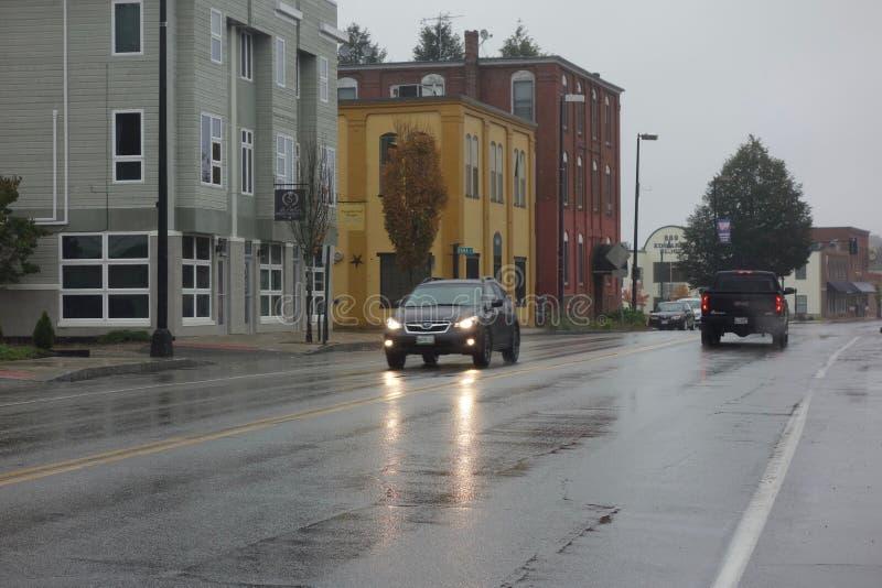 Deszczowy dzień, Westbrook, Maine obraz royalty free